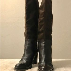 Steve Madden leather and suede boots